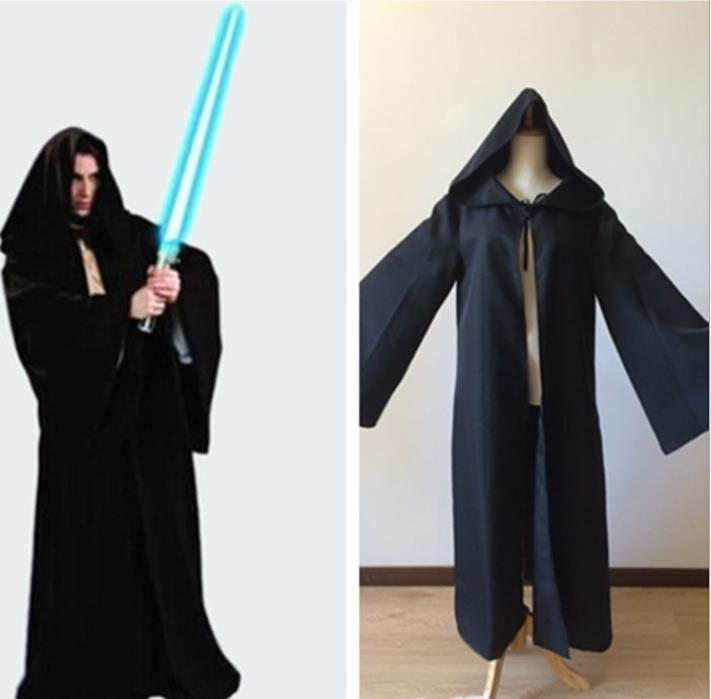 Star Wars Black Warrior Darth Vader Jedi Knight Cloak Anime Cos Costume