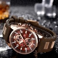 Military Sport Watch MINI FOCUS Luxury Brand Quartz Waterproof Watches for Men Rubber Strap Fashion Army Chronograph Wristwatch