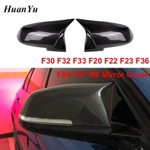 цена на M3 style Mirror Cover for BMW F30 F20 F32 F33 F36 X1 E84 2012 - 2016 M2 F87 Side Rearview Caps Replacement Carbon Fiber Mirrors