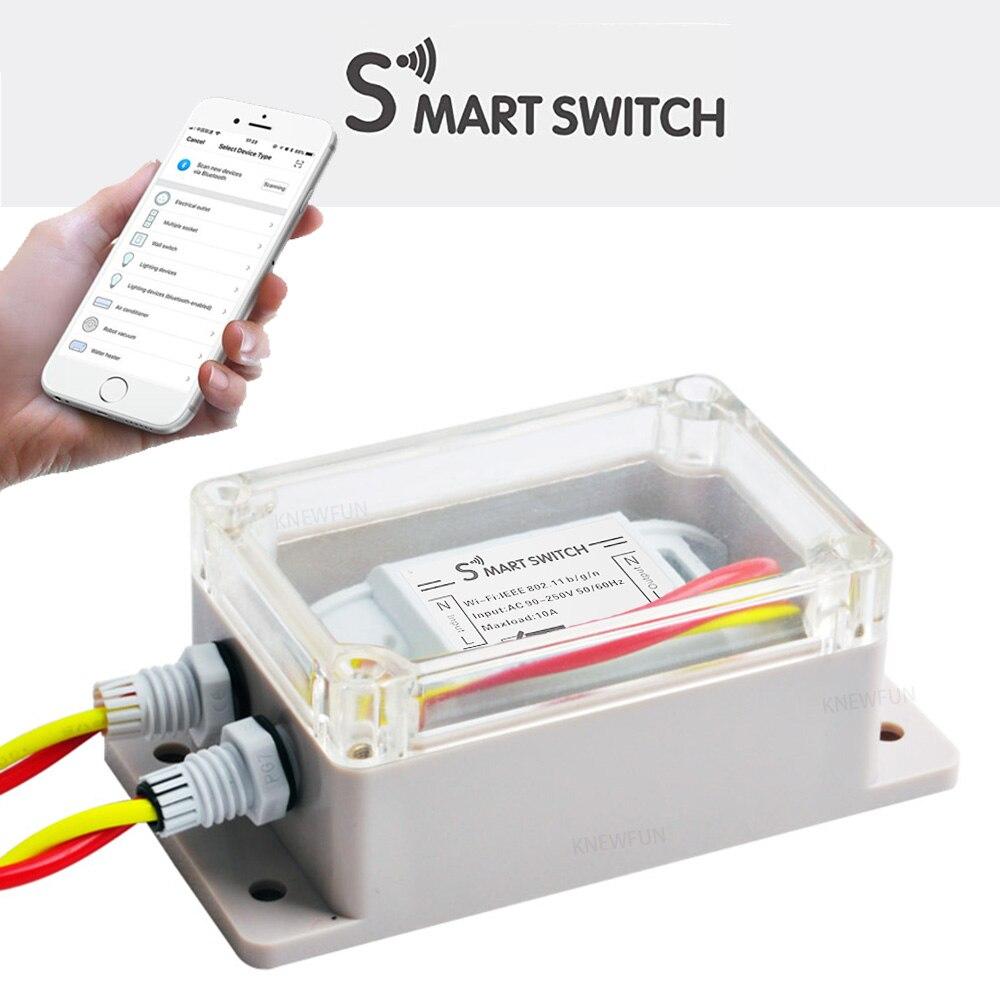 WiFi Mini Interruptor, Adaptador de Interruptor de Controle Remoto com Temporizador, universal Smart Home Automation 10A Compatível com Alexa/Google