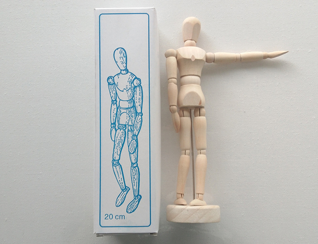 20 cm comic cartón sketch modelo puppet madera conjunta muñeca en ...
