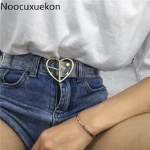 Женские ремни в форме сердца из смолы, милый прозрачный ремень для джинсового платья, поясной ремень с пряжкой, Harajuku, Женский Круглый прозрачный ремень из ПВХ