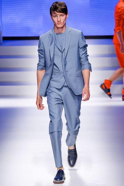 Latest Coat Pant Designs Italian Light Blue Men Suit Slim Fit 3 ...