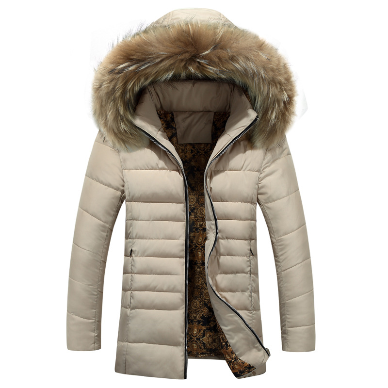 Winter Jacket Men Thick Warm Men Coats Parkas Hooded Mid-Long Cotton Padded Coat Quilted Jackets Male Clothing Big Size quilted jacket male mid long parka new winter thicken warm hooded fur collar cotton padded coat men s snow jackets windproof