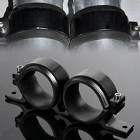 MALUOKASA Kütük Alüminyum Montaj 55 MM İkiz Çift Çift Yakıt Pompası Braketi/Kelepçe/Dağı Otomatik Çıkış Manifoldu Için Bosch 044