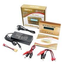HTRC Imax B6 V2 80W 6A cargador de batería RC LiIon/LiFe/NiCd/NiMH/High/LiHV/cargador de energía de batería + adaptador de CA de 15V 6A