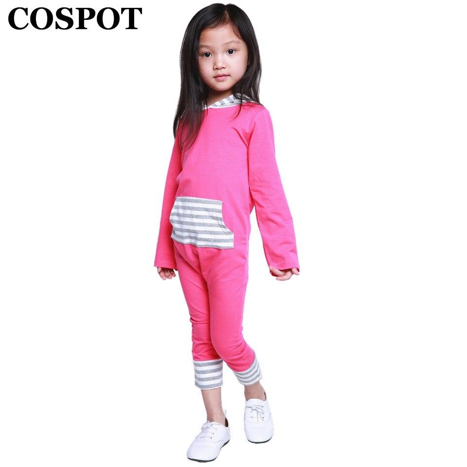 COSPOT Baby Girls Winter Harem Rompers Girl Autumn Hooded Jumpsuits Newborn Tank Fashion Jumper Girls Striped Pajamas 2018 30
