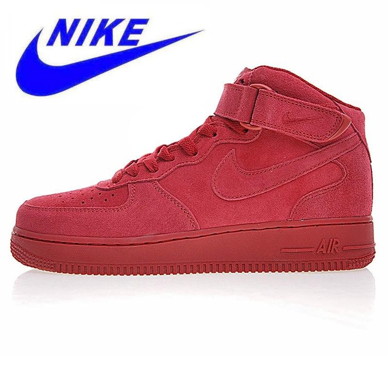 différemment da3cf c21b1 US $229.0 |Aliexpress.com : Buy Nike Air Force 1 Mid AF1 Men's  Skateboarding Shoes, Breathable Shock Absorbing Non slip Wear resistant,  Red 315123 609 ...