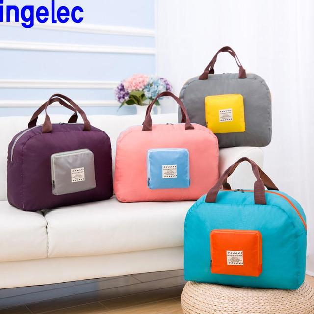 Online Shop Korean Travel Portable Folding Shopping Bag Clothes ...