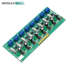 AC 220V 8 Channel MCU TTL Level 8 Ch Optocoupler Isolation Test Board Isolated Detection Tester PLC Processors Module