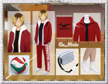 Haikyuu!! Teturo Kuroo Kenma Kozume Lev Haiba Cosplay Costume Outfit Sports Suit Coat+Pants+Socks+Shirt+Hoodie+Ball+Bag