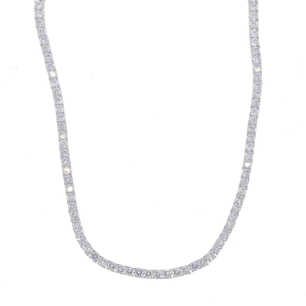 4mm prong setting cubic zirconia ling chain 24