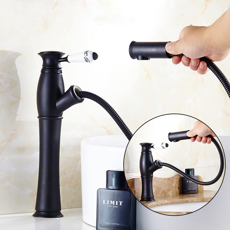 kitchen faucets wholesale luxury black pull down kitchen faucet wholesale new arrival solid brass swivel pull out spray 9622