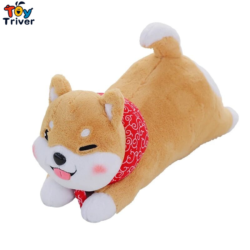 Plush Japan Lie Prone Mameshiba Sankyoudai Loyal Dog Shiba Inu Toy Stuffed Toys Doll baby Kids Birthday Gift Shop Decor Triver creative akita dog shiba inu plush toys imitation dog doll cartoon birthday gift 40 60cm