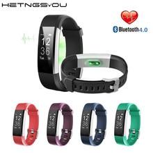 Спортивные ID115 HR плюс Смарт часы браслет сердечного ритма Мониторы Фитнес трекер SmartBand браслет на запястье для IOS телефона Android