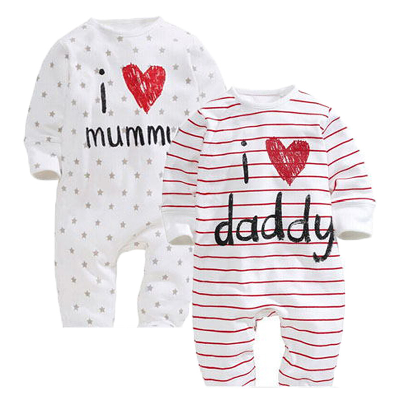 Baby rompers bebes baby girl romper Brand clothing 100% Cotton Letter Print newborn infant clothes long sleeve baby boy clothes