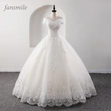 Fansmile New Luxury Vintage Quality Lace Wedding Dress 2020 Ball Gown Princess Bridal Wedding Gowns Vestido De Noiva FSM 557F