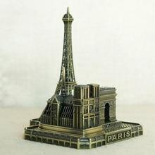 Paris Tower Arcade Arch Arc De Triomphe Church Notre-Dame European French Tourist Souvenir Friend Posing Home Decor