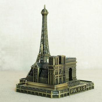 Wieża paryska arkada łuk triumfalny kościół notre-dame De Paris europejska francuska pamiątka turystyczna przyjaciel pozowanie Home Decor tanie i dobre opinie CN (pochodzenie) Architektura Retro i nostalgia Stare meble Metal alloy European Pictured Architecture Desktop pendulum