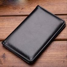 Men Bifold Business Leather Wallet Men Card Holder