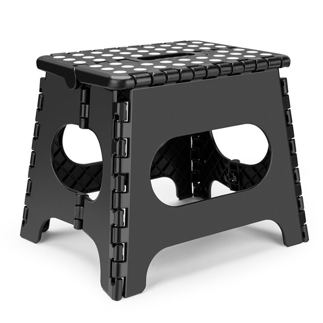 Super Strong Anti slip Bathroom Stool The lightweight foldable step stool is sturdy enough to support adults & safe for kids