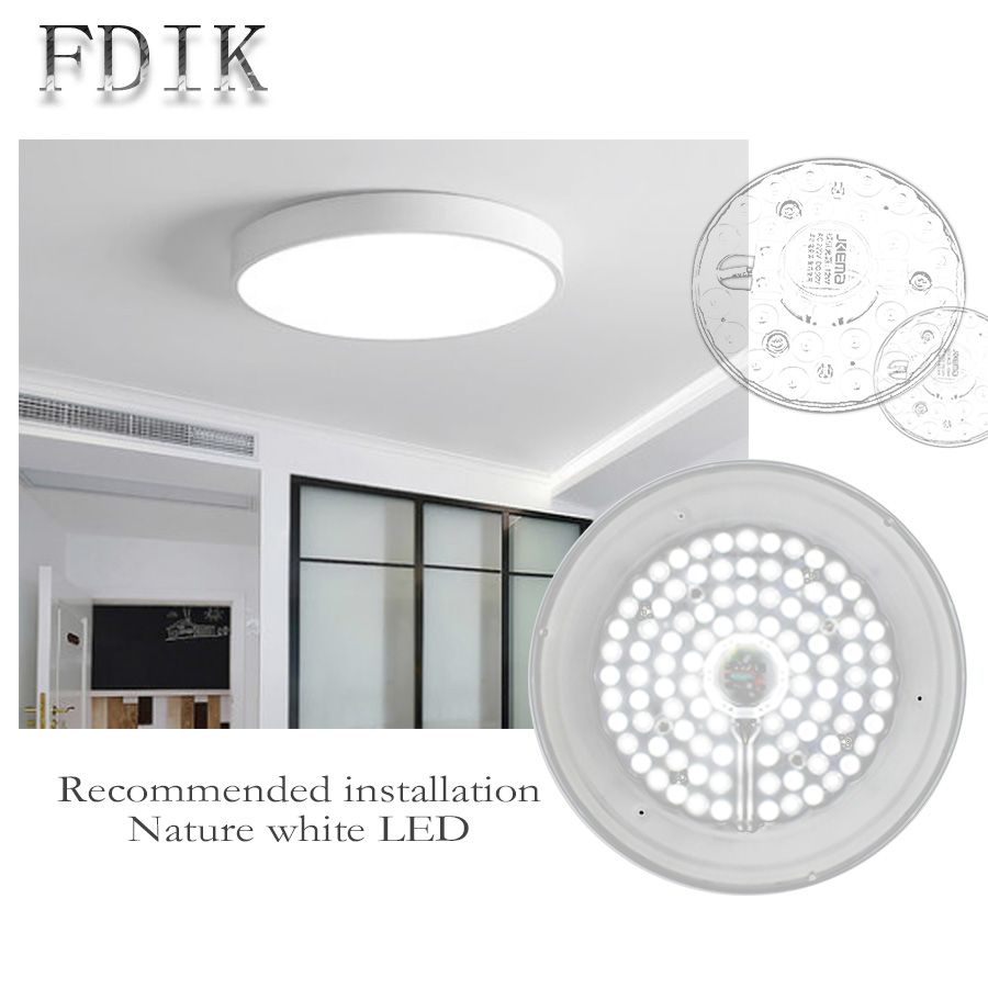 LED Ceiling Lamps Light source module AC220V DC90V 12W 18W 24W 36W Modified Lamp Board leds Panel Circular Ceiling lights Source