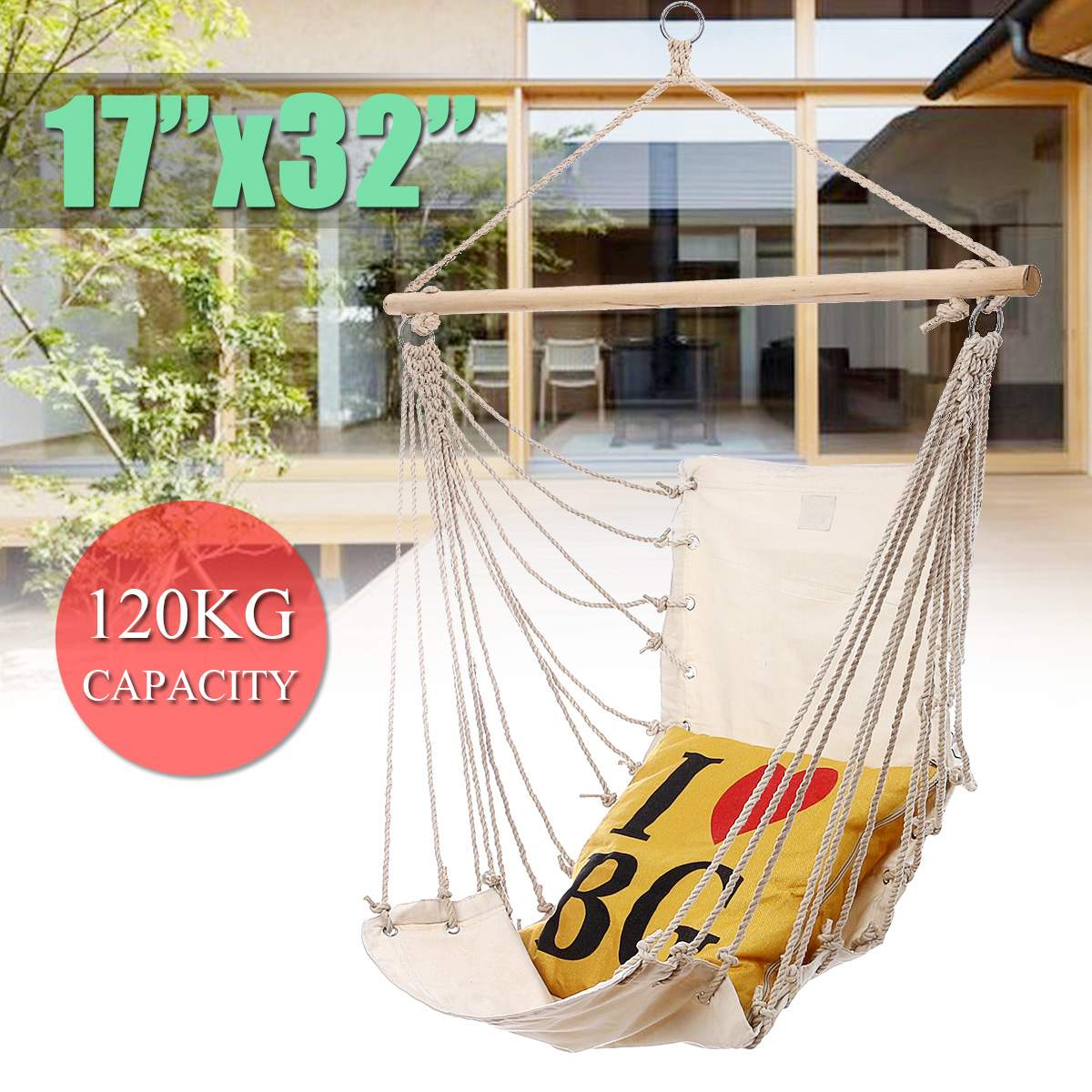 Outdoor Indoor Garden Hanging Hammock Chair For Child Kids Adult Swinging Nordic Style Dormitory Bedroom Hanging Chair