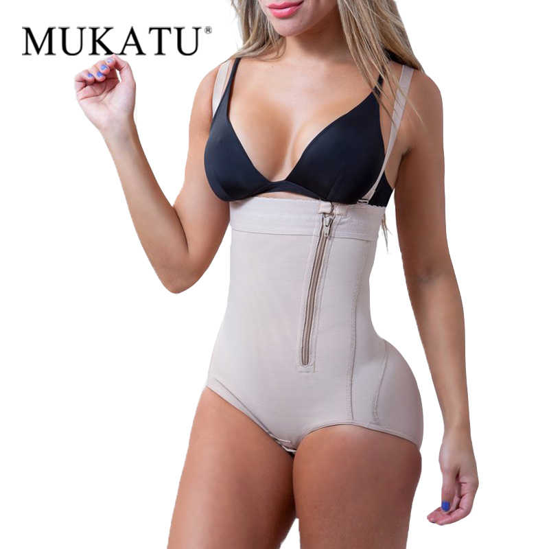 c51415aed97 Plus Size Latex Women s Body Shaper Slimming Underwear Post Liposuction  Girdle Clip Bodysuit Waist Shaper Reductoras
