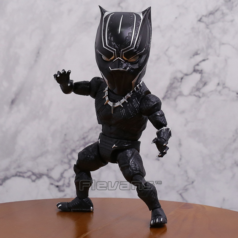 Marvel Super Hero Black Panther Egg Attack Action EAA-033 PVC Action Figure Collectible Model Toy 18cm 2015 new free shipping marvel super hero x men wolverine pvc action figure collectible toy 1231cm with box