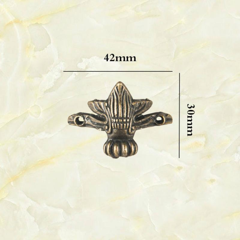 JD 4pcs Small Antique Zinc Alloy Foot Decorative Bottom Corner Beast Foot Box Foot Furniture Hardware