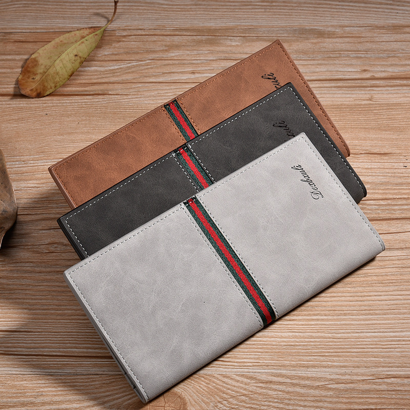 Men Wallets Long Vintage Leather Wallet Male Clutch High Quality Famous Brand Purse Large Capacity Money Bag Credit Card Holder  bvlriga women wallets famous brand leather purse wallet designer high quality long zipper money clip large capacity cions bags