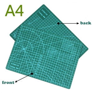 "Image 4 - PVC Cutting Mat a4 ""9 Sea"" Durable Self Healing Handmade DIY Quilting Accessories Flexible Green Patchwork Board Tool 30*22 cm"