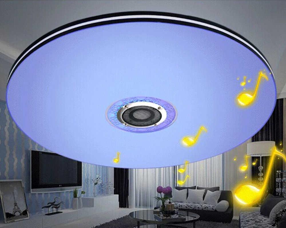 Mumeng led ceiling light modern rgb living room luminaria 32w bluetooth speaker lustre music party lamp acrylic bedroom fixture