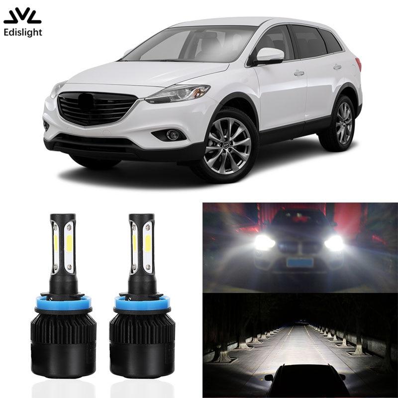 Edislight High Power 72W 7600LM LED Headlight Kit Low Beam Bulbs For 2007-2015 MAZDA CX-9 CX9 Headlamp 6500K White Car Light