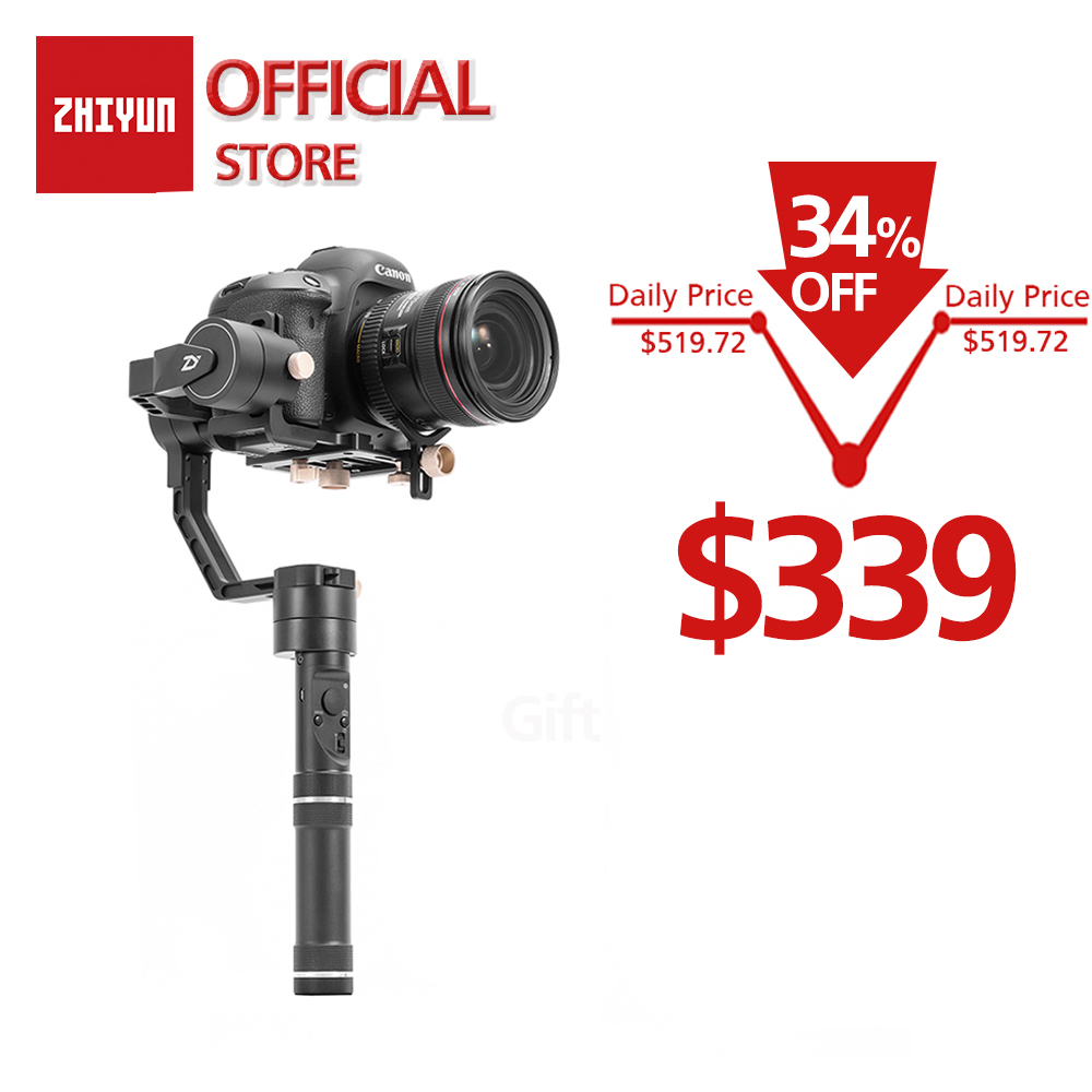 ZHIYUN Ufficiale Gru Plus 3-Axis Handheld Gimbal Stabilizzatore per Mirrorless DSLR Della Macchina Fotografica per Sony A7/Panasonic LUMIX DMC- /Nikon J/Cano