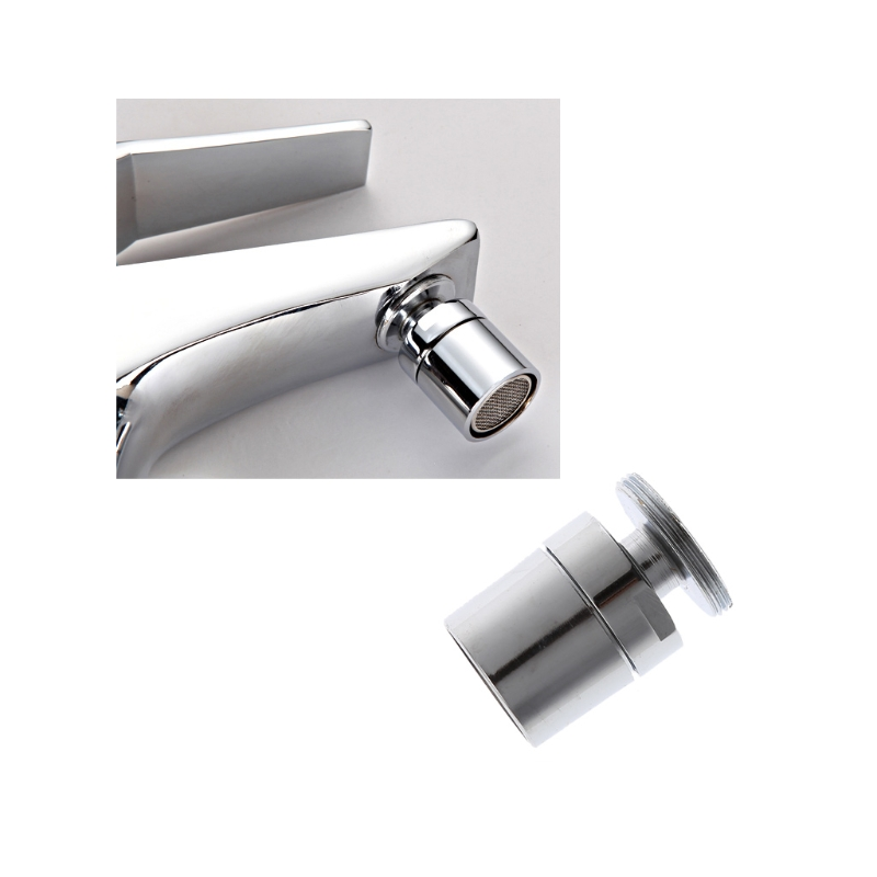 HNGCHOIGE Chromed 24mm Brass Adjustable Swivel Water Saving Tap Nozzle Spout Aerator M24 Male
