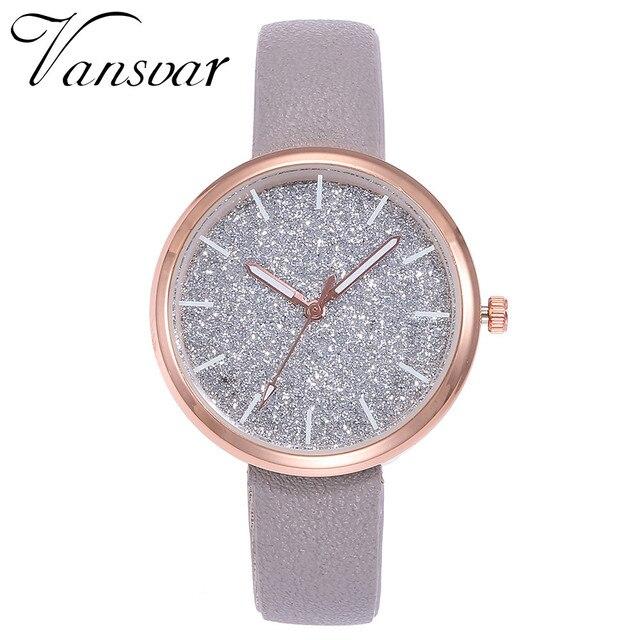 women watches Vansvar Fashion Mesh Watches Women's Watches Casual Quartz Analog