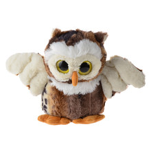 BOHS Standing Cute Plush Owl - Crystal Eyes -Real Life Stuffed Animals Toy- Brown & White Optional-20cm/30cm(China)