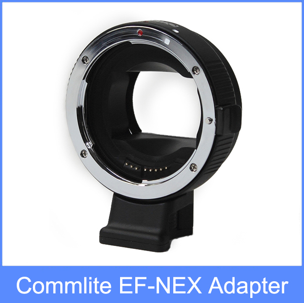 COMMLITE Auto-Focus Mount Adapter EF-NEX for Canon EF to for Sony NEX Mount camera auto focus lens adapter ii for canon eos ef ef s to sony full frame nex a7 a7r