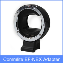 COMMLITE Auto-Focus Mount Adapter EF-NEX for Canon EF to for Sony NEX Mount