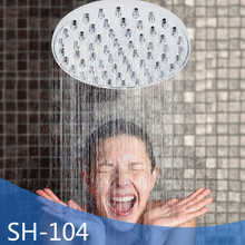 Hot sale round shape 10cm diameter chromed ABS shower room  roof head