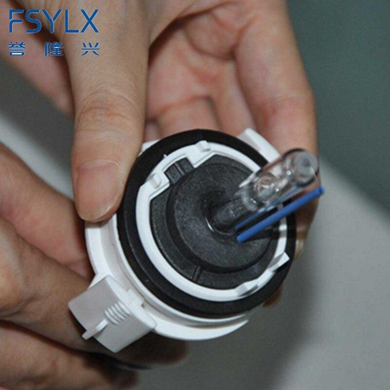 FSYLX 2 Piece H7 HID xenon headlight headlamp adapter holder base clips retainer for bmw E46 3 Series 1999-2006 (Low Beam) цены