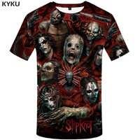 KYKU T-shirt hommes bande T Shirt vert Hip Hop Tee Streetwear Anime vêtements caractère 3d T-shirt Cool hommes vêtements 2018
