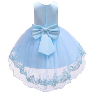 Image 5 - 2019 Kids Tutu Birthday Princess Party Dress for Girls Infant Lace Children Bridesmaid Elegant Dress for Girl baby Girls Clothes