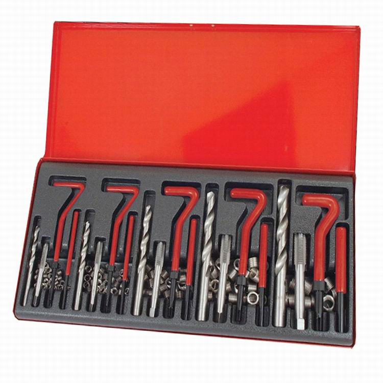131 PCS Thread Repair Set Metric Heli-coil Kit Stripped Threads Workshop Tool 147 pcs portable professional watch repair tool kit set solid hammer spring bar remover watchmaker tools watch adjustment
