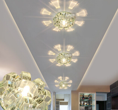 corridor aisle ceiling light living room lighting crystal lamp CRYSTAL LED crystal ceiling lamps light entrance hall LO8107 цена