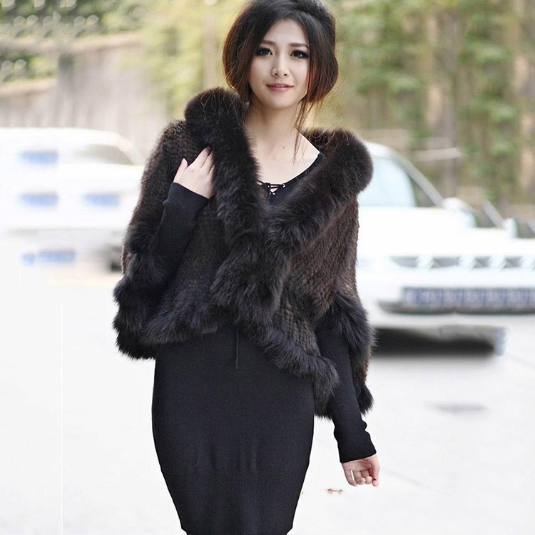 real knitted mink fur shawl scarf for women with natural fur trim fox fur collar sleeve femme spring autumn pashnima and wraps besty women fashion real fur knitted mink fur wool cap hat with real fox fur ball ear protector genuine sable natural mink fur page 2