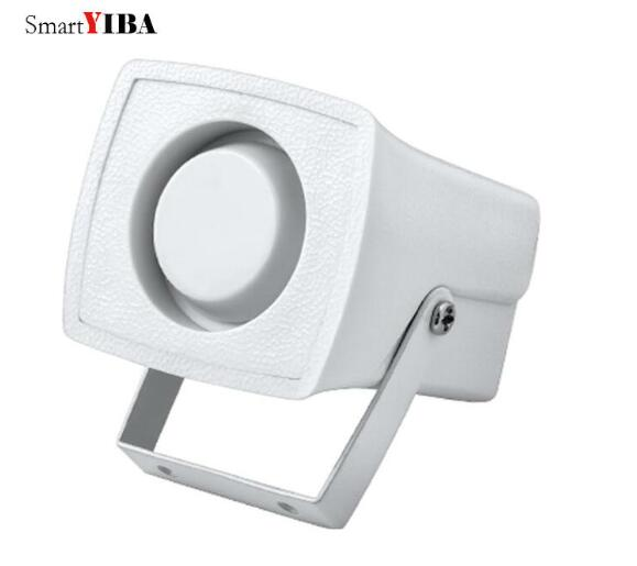 SmartYIBA White Horn Siren Wired Mini Siren For Alarm Panel Loud Indoor Siren Alarm