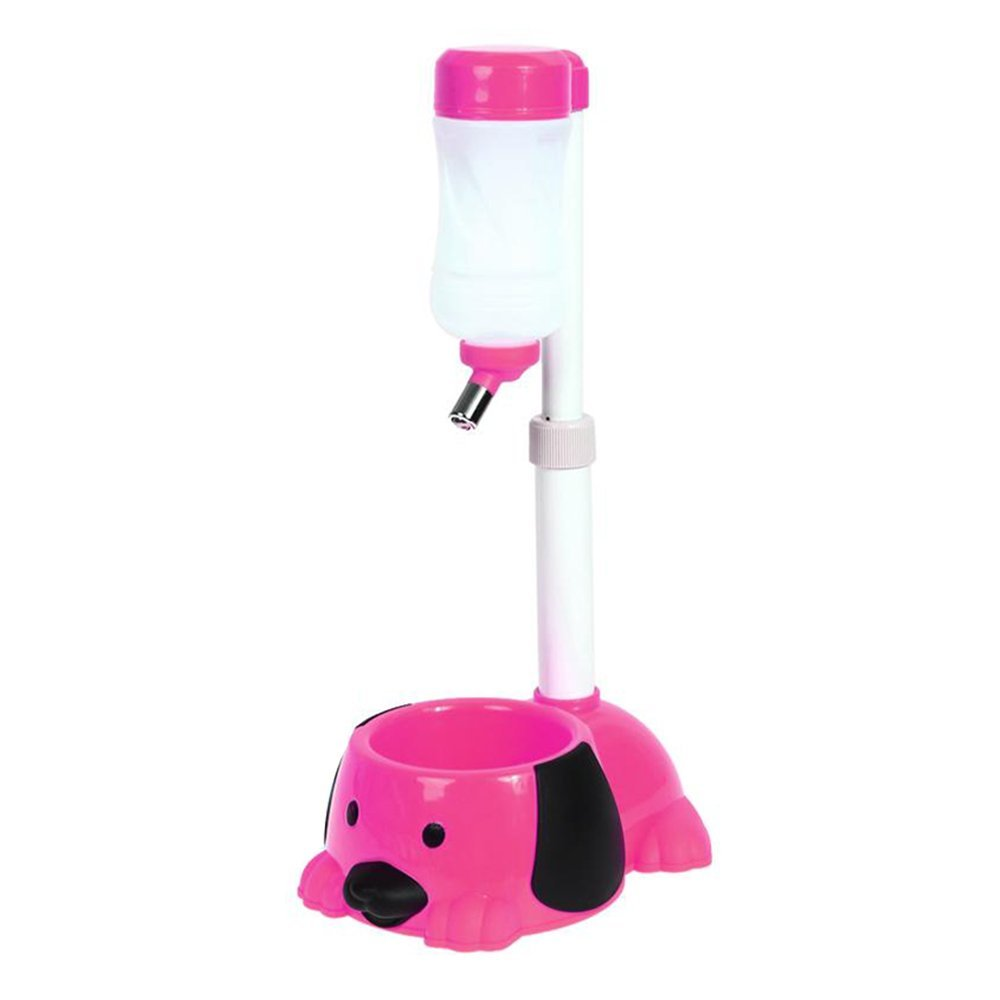 Pet Automatic Water Drinker Dispenser Food Stand Hamster Feeder Dish Bowl Bottle Dogs Puppy Cats