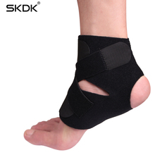 SKDK 1Pair Sport Safety Ankle Support Pressurizable Bandage Anti Sprain Foot Protector Basketball Football Badminton Ankle Guard
